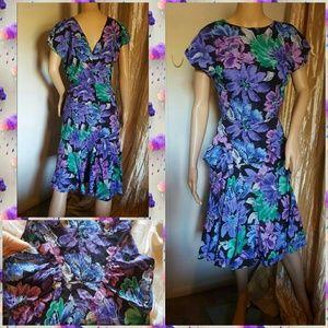 1940s floral dress